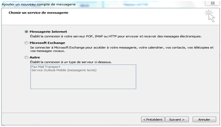 Configuration - Outlook - IMAP - Configuration d'un compte